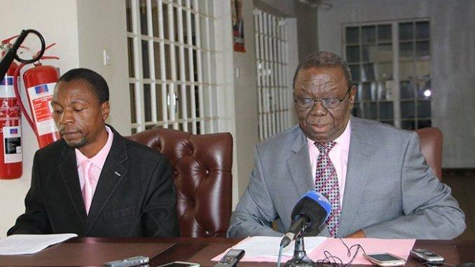 Luke Tamborinyoka and the late Morgan Tsvangirai
